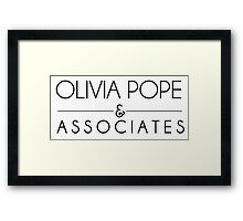 Olivia Pope & Associates Framed Print