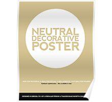 Neutral Decorative Poster (Beige) Poster