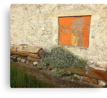 The Painted Window Canvas Print