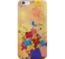 Flower Vase and a Bird  iPhone Case/Skin