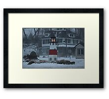 Snowy Afternoon at the Bluff Framed Print