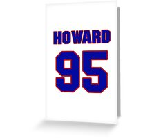 National football player Howard Green jersey 95 Greeting Card