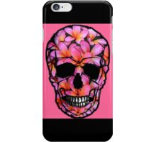 Skull Frangipani Flowers Pink iPhone Case/Skin