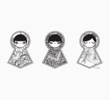 Three Matryoshka Babushka Dolls Kids Clothes
