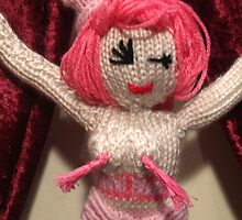 Miss Suga D'Flirt  - knitted burlesque doll series by Sayraphim