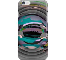Tunnel Vision, flipped photo, ABSTRACT, TEXTILE ART, blue, plum, multicolored  iPhone Case/Skin