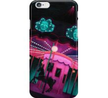 Pink and Purple Carnival, Oil Painting of Carousel, horse and faces iPhone Case/Skin