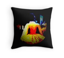 THE DANCE,  after midnight, ABSTRACT, modern Throw Pillow