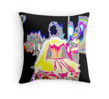 PRINCESS ABSTRACT,  bright colored textile, gifts, decor Throw Pillow