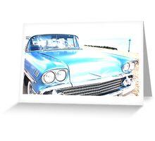 Bright Bleached Cadillac Hood Greeting Card