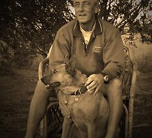 Mr Brown and Dog by Keiran Lusk
