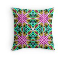 Psychedelic Pink Starburst. Throw Pillow