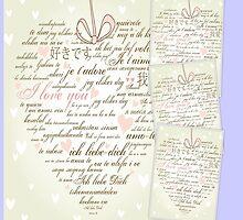 Words of Love Designer Art Powder Blue by innocentorigina