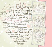 Words of Love Designer Pink Art by innocentorigina