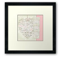 Words of Love Designer Pink Art Framed Print