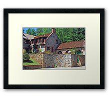 The back side of the Bourn Cottage Framed Print