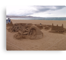 Sand Sculpture Canvas Print