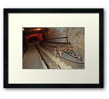 miner's skip into the Empire Mine's main entrance Framed Print