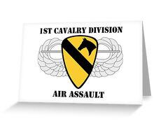 1st Cavalry Division Air Assault - W/Text Greeting Card