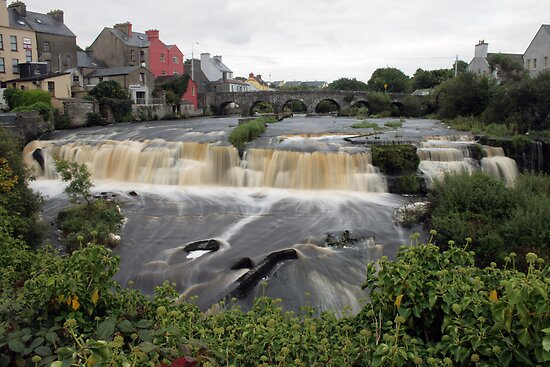 Cascades at Ennistymon by John Quinn