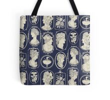Cameos - blue Tote Bag