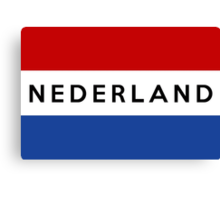 flag of netherlands Canvas Print