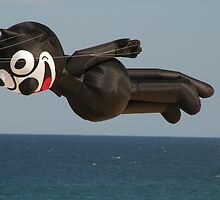 Felix The Cat Flies Over Bondi Beach 2010 by muz2142