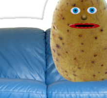 Couch Potato Character Sticker
