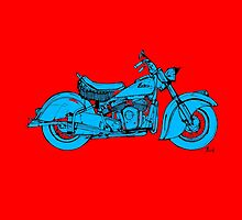 Indian Chief 1951 Classic Motorcycle by drawspots