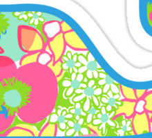 Lilly Pulitzer Whale Ice Cream Sticker