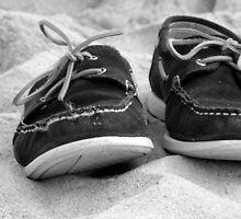 Shoes on the sand by franceslewis