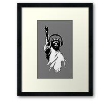Lady Liberty with DJ Headphone Framed Print