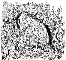 black horse by somsomkarts