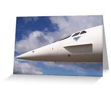 nose of the concorde Greeting Card