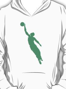 Green Basketball Player Silhouette T-Shirt