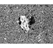 Silver Heart Photographic Print