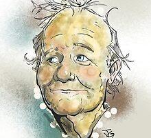Bill Murray Portrait by grosvenordesign