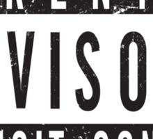 Parental Advisory Label [DISTRESSED] Sticker