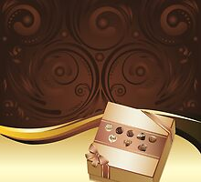 Brown Background with Chocolate Box by AnnArtshock