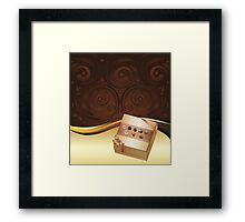 Brown Background with Chocolate Box Framed Print
