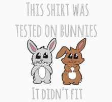 This shirt was tested on bunnies Kids Clothes