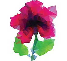 Polygonal Purple Flower Photographic Print