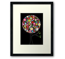 Whimsical Colorful Spring Flowers Pop Tree Framed Print