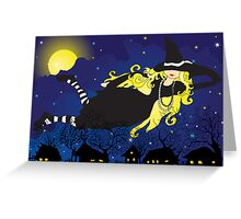 Blond Witch Greeting Card