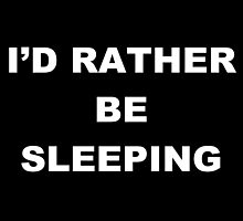 i'd rather be sleeping. by Rosa Metgod