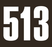 513 Cincinati [White Ink] | Phone Area Code Shirts Stickers by FreshThreadShop
