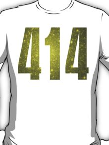 414 Milwaukee [Gilded Galaxy] | Phone Area Code Shirts Stickers T-Shirt