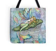 Leaping Carp Mermaid Fantasy Art Art by Molly Harrison Tote Bag