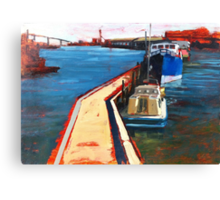 Oil Sketch, Melbourne Docklands Canvas Print