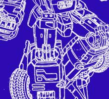 transformer blueprint Sticker